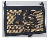 Kühlerverkleidung/Kühlerabdeckung 750 GSX-S design Bulldog mattes schwarzes + vergoldetes schutzgitter