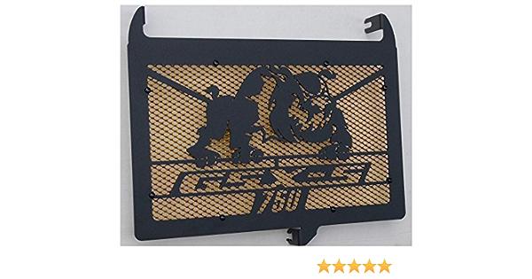 Protezione radiatore//copri radiatore Suzuki 750 GSX-S design Bulldog grata anti ghiaietto blu