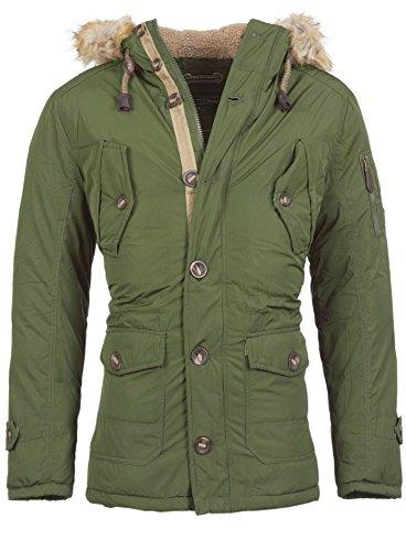Épaisseur d'hiver pour homme fellkapuze parka veste longue & young rich Vert - Vert foncé