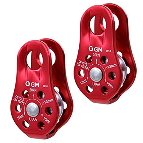 GM CLIMBING 20kN UIAA Certified Micro Pulley Slack Tender for Hitch Tending Pack of 2