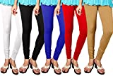 #8: Shmayra Multicolor Soft & Stretchable Churidar Leggings for Womens Free Size – Leggings Combo Offer