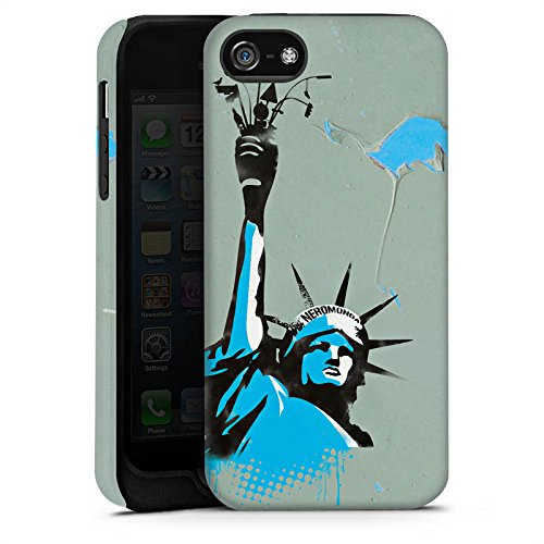 Apple iPhone X Silikon Hülle Case Schutzhülle New York Freiheitsstatue Amerika Tough Case matt