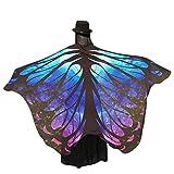 Damen Weicher Gewebe Schmetterlings Flügel Schal, Zolimx Nymphen Pixie Kostüm Zusatz (Blau2)