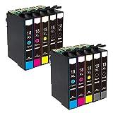ZR-Printing Ersatz für Espon T1811 T1812 T1813 T1814 Druckerpatronen Hohe Kapazität Kompatibel mit für Epson XP-305 XP-405 XP-205 XP-402 XP-202 XP-302 XP-102 XP-415 XP-315 XP-30 XP-215 Drucker (4schwarz, 2gelb, 2cyan, 2magenta)