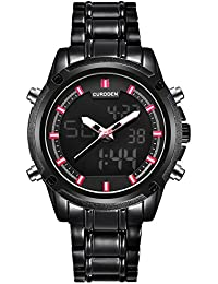 1f6cbbc0546b VEHOME Reloj de Lujo de Acero Inoxidable para Hombres CURDDEN LED - Fecha -  Analógico - Cuarzo❤Relojes Hombre Deportivos…