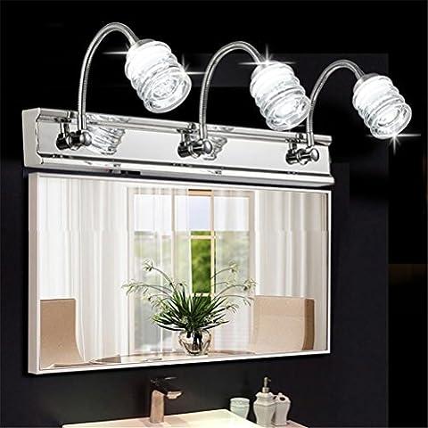 WQRTT® Miroir de bain Lampe avant Lampes murales de bain LED Elongation Imperméable anti-brouillard Lumières de maquillage étanches à l'humidité Lumière de lecture Simple Modern Home Home Toilette Miroir Lampes d'armoires