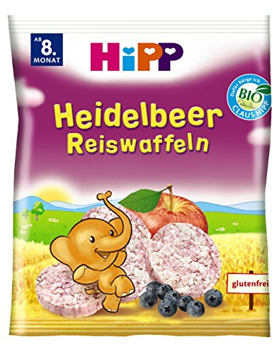 HiPP Heidelbeer Reiswaffeln Bio, 7er Pack (7 x 35 g)