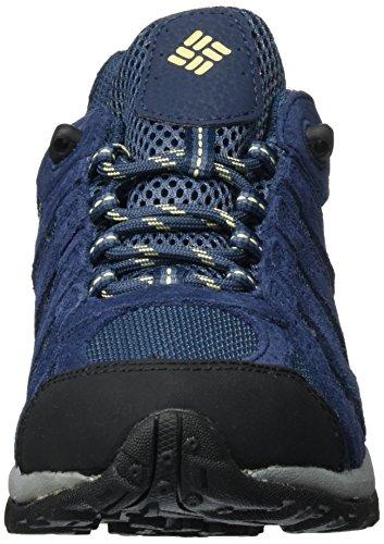 Columbia Redmond Waterproof, Chaussures de Randonnée Basses Femme Bleu (Zinc, Cornstalk 492)