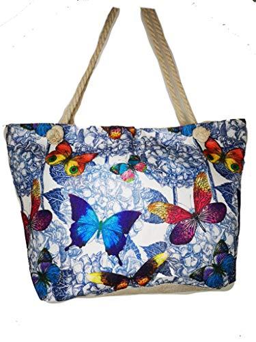 Sac à provisions, linge de maison, sac de plage, XXL, sac de voyage, sac de yoga mandala, client, sac de sport été papillon