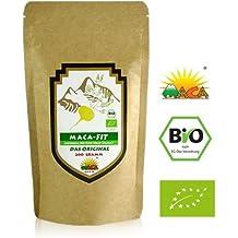 Maca 200g polvo puro de la raíz de maca organica, polvo de Maca andina original del Peru es fantástico para estimular los niveles de energía antes del ejercicio Maca natural alta en vitamina B1, B2, B6, calcio, hierro y zinc