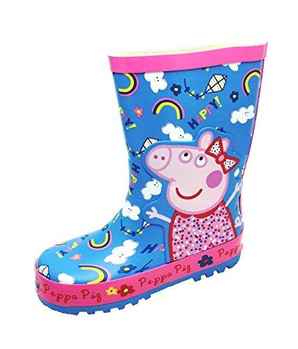 Peppa Pig Pearl - Botas de Caucho Para Niña Rosa Pink and Blue