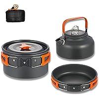 Aitsite Camping Kochgeschirr Kit Outdoor Aluminium Leichte Camping Pot Pan Kochen Set für Camping Wandern