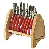 9x Augusta Zangen Uhrmacherzangen im Sortiment auf Holzständer