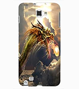 ColourCraft Fire Breathing Dragon Design Back Case Cover for SAMSUNG GALAXY NOTE 1