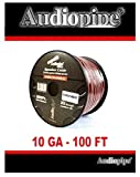Best Audiopipe Car Speakers - 100 ft 10 gauge awg Red Black Stranded Review