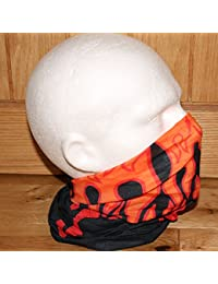 TC-Accessories BLACK red yellow FIRE SNOOD tube scarf
