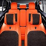 Housse de siège de voiture en lin polyester de luxe légère et légère, recouverte...