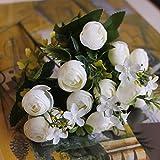 DYF Alto grado de simulación de retrato de flores Wedding Home Decoration, blanco leche