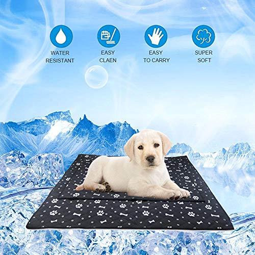 Baiwka Hundekühlmatte Extra Groß 105x90cm, Selbstkühlendes Haustierkissen Für Hunde Katzen Im Heißen Sommer, Halten Sie Ihre Haustiere Kühl, Ungiftig Und Sicher In Der Anwendung