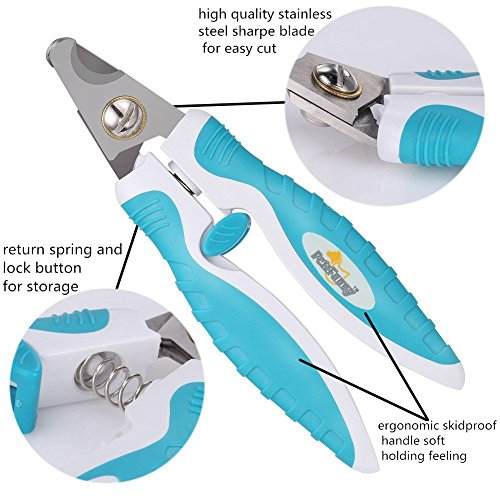 Professional-Pet-Dog-Nail-Clippers-For-Small-Medium-Large-Dog-Breeds-With-Dog-Nail-File-Pet-Dog-Claw-Clippers-and-Trimmer-With-Unique-45--Tip-Blades-Super-Sharp-Blades-and-Comfortable-Non-slip-Rubber-