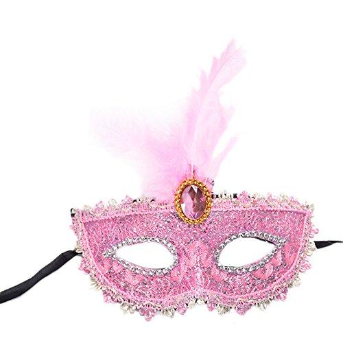 Cdet Kostüm Maske Kostüm Prinzessin Juwel Spitze Feder Augen Maske Masquerade Mask für Halloween Maskentanzabend Party Foto Zubehör ()