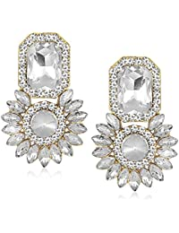 Meenaz Jewellery Gold Plated Ear Rings For Girls In American Diamond Earring For Women In Jewellery Necklace Earring-TR156