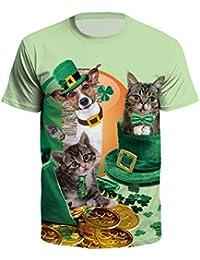 b237db1ed466a6 Homme St. Patrick s Day Imprimé Imitation Trèfle St Patrick Day Chapeau  Homme Sweat-Shirt