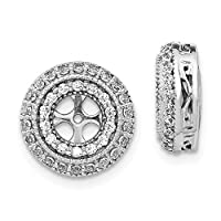 12mm 14ct White Gold Diamond Earrings Jackets Jewelry Gifts for Women