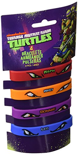 Image of Amscan Teenage Mutant Ninja Turtles 4-Rubber Bracelets
