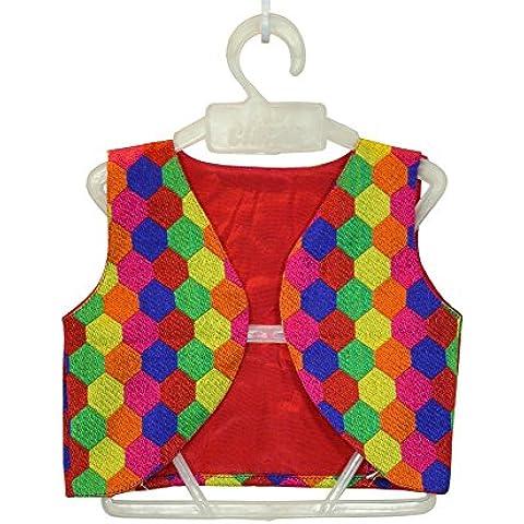 Little Emporio della neonata Sari rivestimento di cotone multicolore Designer Dress