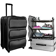 XL Koffer 60L mit versenkbarem Regalsystem Trolley Reisekoffer Weichgepäck 71cm