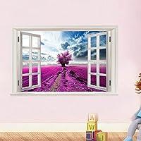 Etiquetas engomadas de la pared 3D - Saihui autoadhesivo Wallpaper removible arte Vinilos murales calcomanías para Home Room Decoration - Scenery fuera de la ventana (E)