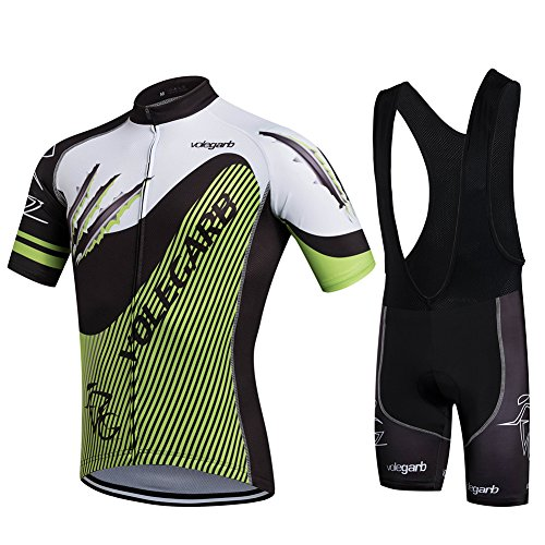 Fastar Ropa Verano Conjunta de Ciclismo de Hombre - Ciclismo Maillot J
