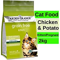 PetSutra Arden Grange Kitten and Adult Cat Food (Chicken and Potato, 2 kg)