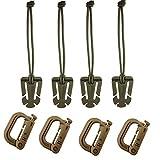 YCNK 4 Stück Mehrzweck D-Ring Grimlock Verriegelung für MOLLE Gurtband, braun …