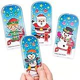 Baker Ross Mini Flipper Natalizi ( Pacco da 8 ) Ideali per Divertenti giochini e lavoretti Natalizi per Bambini.