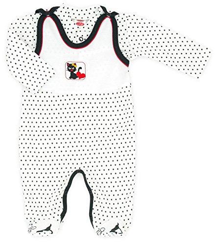 MAKOMA Baby Erstausstattung Unisex Strampler-Set mit Langarmshirt (50 – 74) (68, Black Cats)