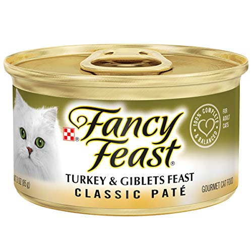 Fancy Feast Classic Turkey And Giblets Feast Canned Cat Food 3 Oz, Case Of 24