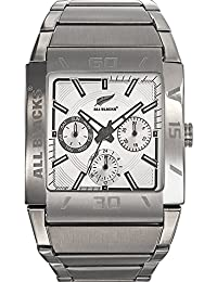 All Blacks - 680183 - Montre Homme - Quartz Chronographe - Cadran Argent - Bracelet Métal Gris