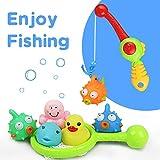 Bebe Juguetes Baño Juguetes de Pesca Juego de Agua Baño Juguete Infantil para Niños Niñas con 8 PCS
