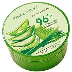 Soothing & Moisture Aloe Vera,Aloe vera gel zieht schnell ein keine Rückstände 300ml Für Gesicht Haut Und Haar Beruhigende Und Nährende Einfach In Der Anwendung Feuchtigkeitspflege für Gesicht