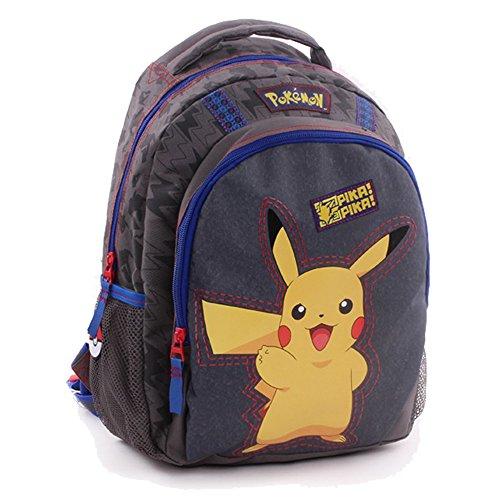 *Vadobag Pokemon Pika Pika – 1 Poche A Soufflet – Sac à dos enfants, 35 cm, Gris Meilleure offre de prix
