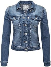 c0184a2dc237 ONLY Damen Jeansjacke Übergangsjacke Leichte Jacke Denim Casual GE LESTA