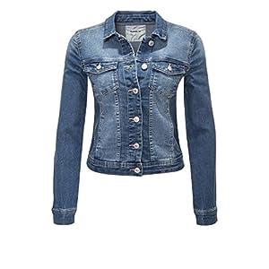 ONLY Damen Jeansjacke Übergangsjacke Leichte Jacke Denim Casual GE LESTA