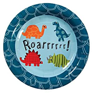 Dinosaur Party Lot de 12 assiettes en carton Motif dinosaures