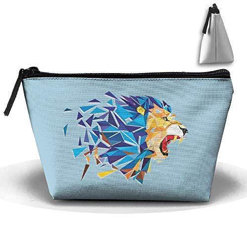 Trapezoidal Bag Makeup Bag Lion Storage Portable Travel Wash Tote Zipper Wallet Handbag Carry Case
