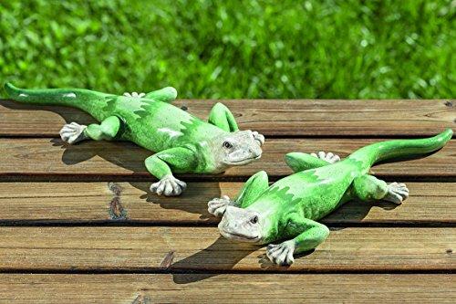 2 Stk. Eidechsen Salamander Gekko 31 cm grün 2er Set - zum Preis von Einem