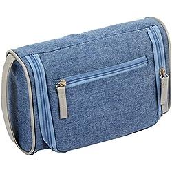 Männer Reise Waschbeutel Geschäftsreisen Top Handle Waschbeutel Multicolor,Blue-S