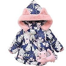 1f037832065 Longra Manteau à Capuche Fille Hiver Chaud Ultra Épais Doudoune Fille Bébé  Vêtements d extérieur