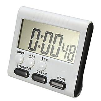 ACAMPTAR Temporizador Digital/Temporizador de Cocina con Alarma Audible, Funcion de Arriba y Abajo, Soporte magnetico, Negro